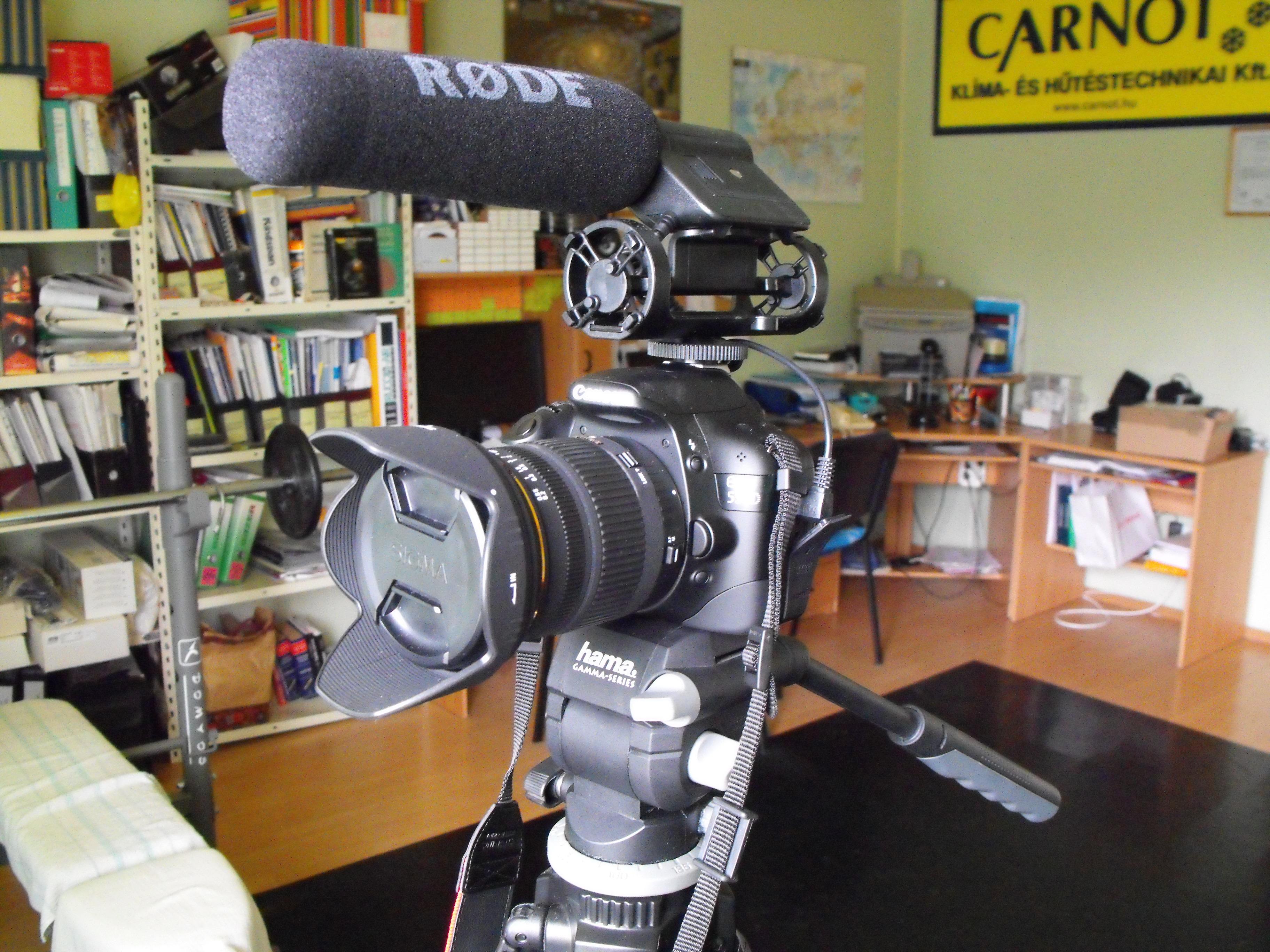 Canon EOS 550D Rode VM mikivel