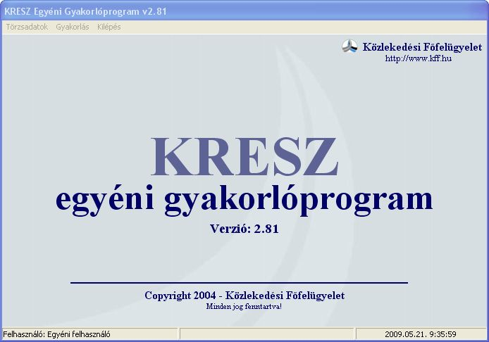 KRESZ Egyéni Gyakorlóprogram 2010 (v2.81 Full)