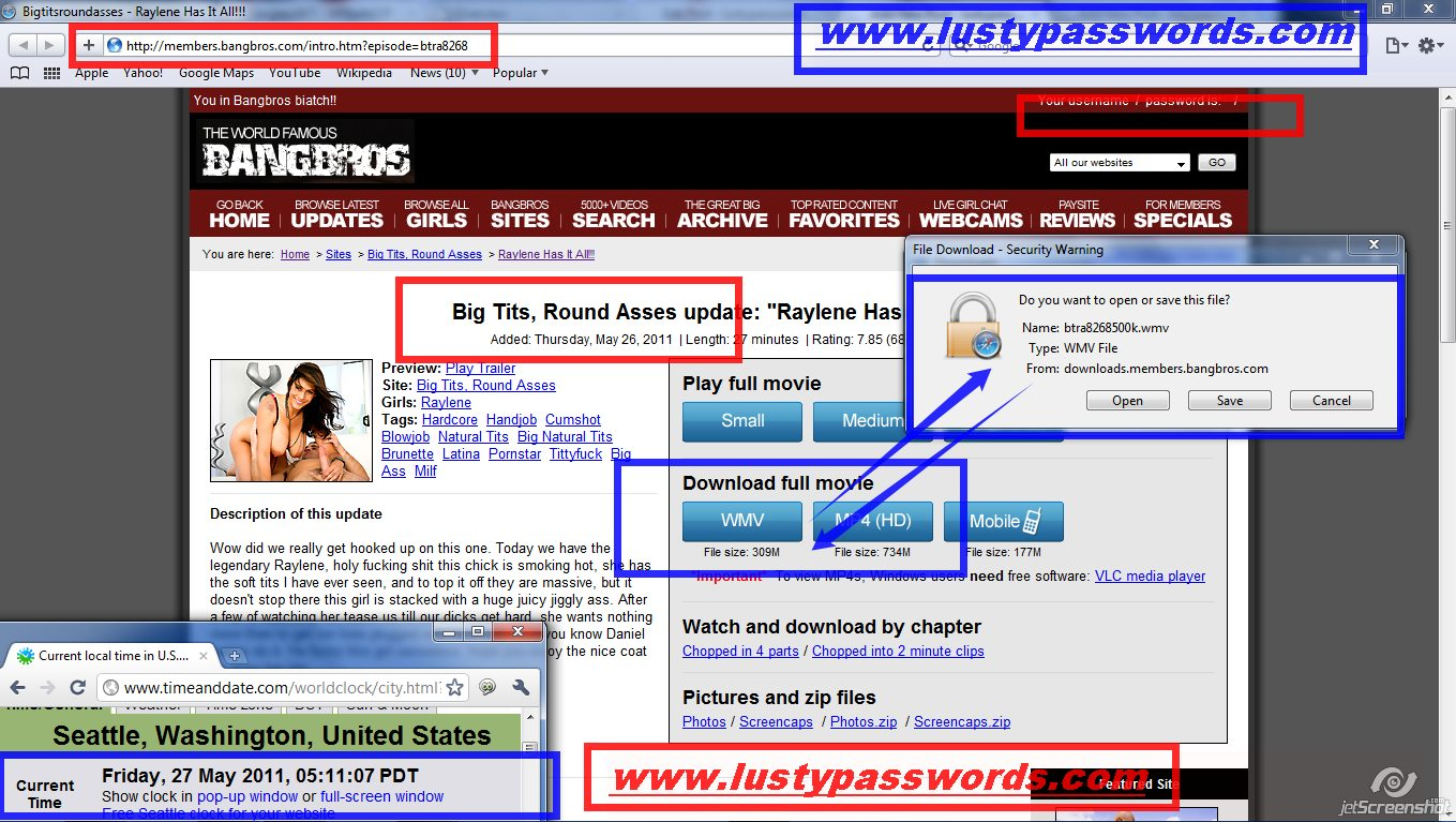 27th may , 2011  bangbros.com pass Login Proof (click to Enlarge)