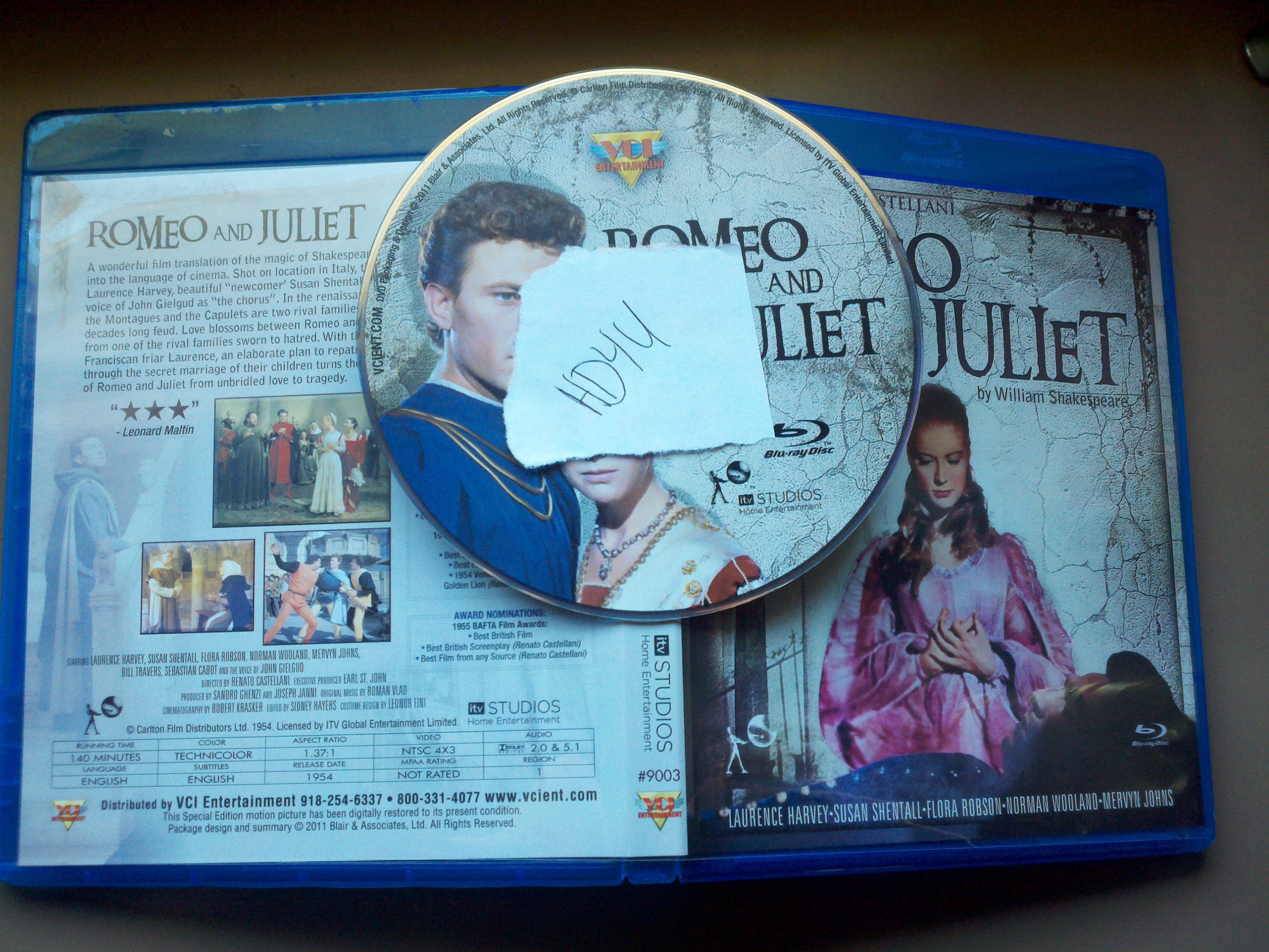 Romeo and Juliet 1954 720p BluRay x264-HD4U