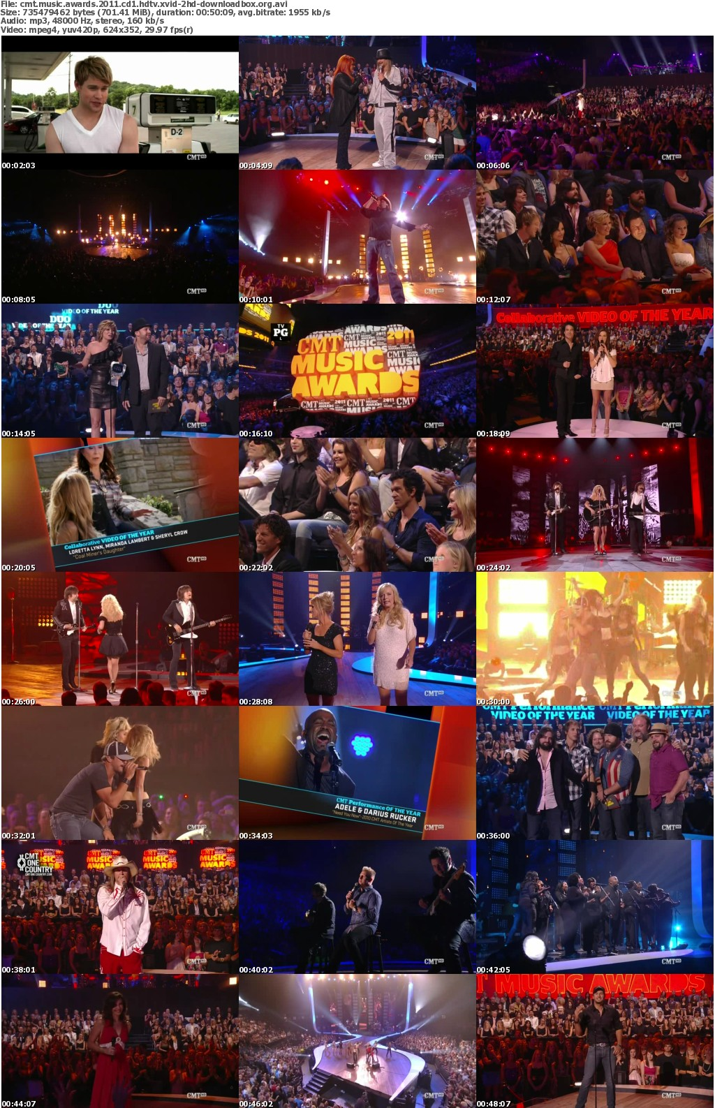 CMT Music Awards 2011 HDTV XviD-2HD