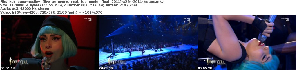 Lady gaga - medley (live germanys next top model final 2011) x264 2011-JESTERS