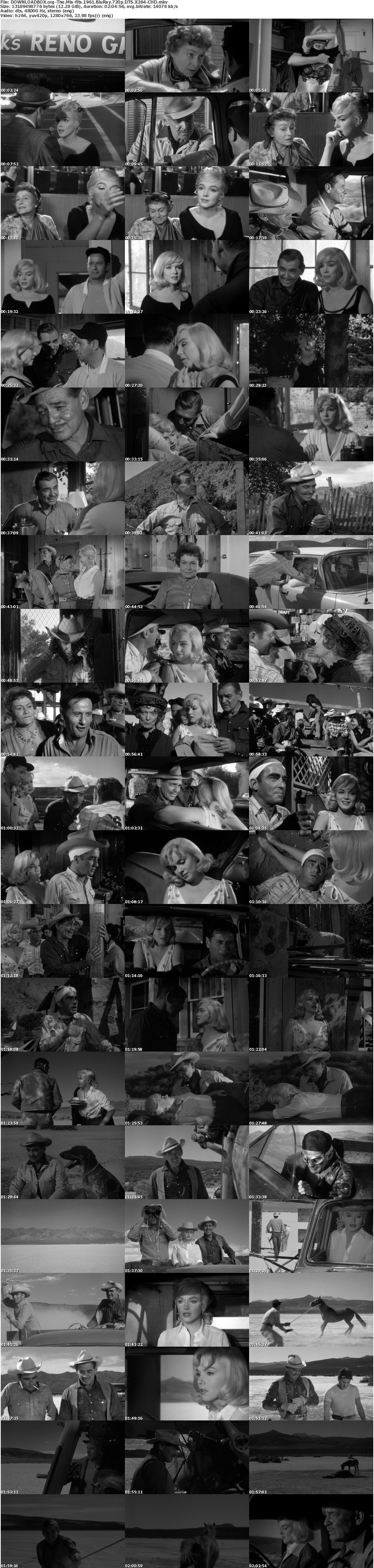The Misfits 1961 BluRay 720p DTS X264-CHD